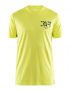 Koszulka męska sportowa Craft Eaze SS Graphic Tee żółta