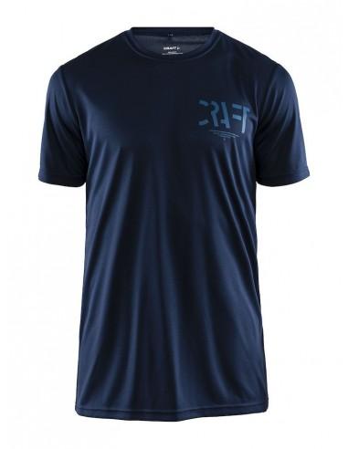 Koszulka męska sportowa Craft Eaze SS Graphic Tee granatowa