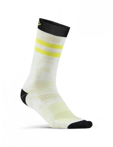 Skarpetki Rowerowe CRAFT Pattern Sock Białe
