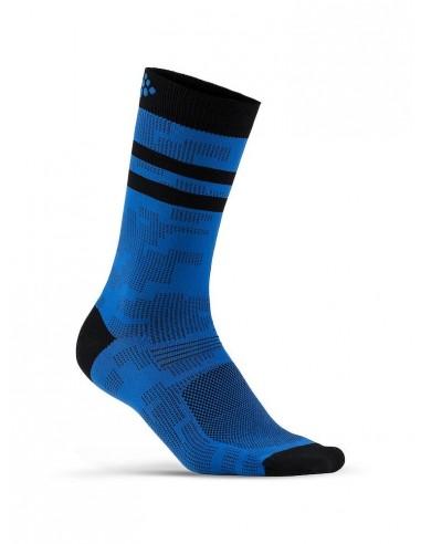 Skarpetki Rowerowe CRAFT Pattern Sock Niebiesko-czarne