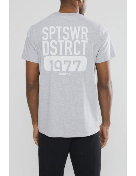 T-Shirt Męski Craft District Clean Tee M Szary