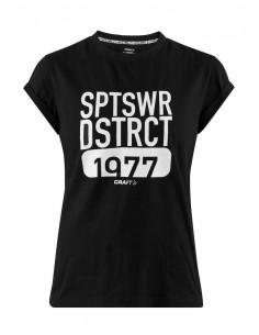 T-Shirt Damski Craft District Clean Tee M Czarny