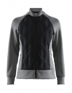 Bluza hybrydowa damska Craft  District Hybrid Jacket W Szara