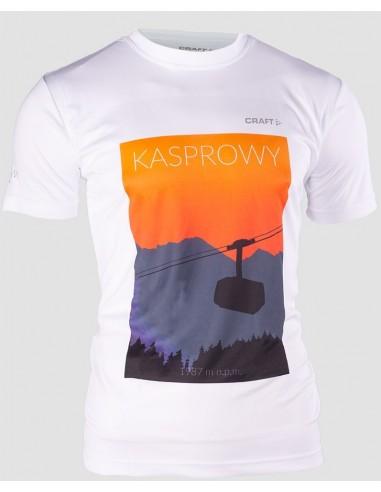Koszulka sportowa męska Craft Prime Tee z nadrukiem Kasprowy