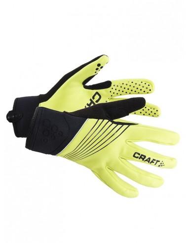 Rękawiczki Rowerowe Craft Active Bike Czarno-Żółte