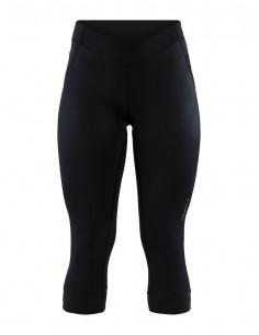 Spodnie 3/4 rowerowe damskie Craft Rise Knickers Czarne