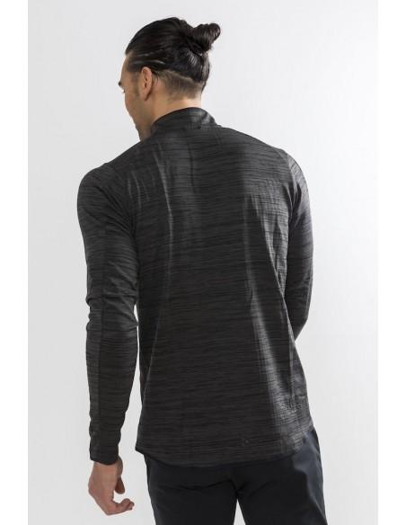 Bluza męska Craft L2 Grid Halfzip Grafitowa