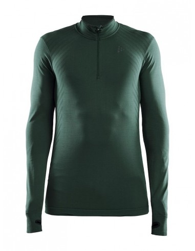Koszulka męska Craft Fuseknit Comfort ZIP Zielona
