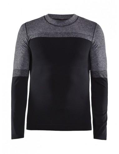Koszulka męska Craft Warm Intensity LS Czarno-Szara