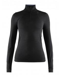 Koszulka termoaktywna damska Craft Fuseknit LS ZIP Czarna