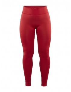 Legginsy termoaktywne damskie Craft Fuseknit Comfort Pants, czerwone
