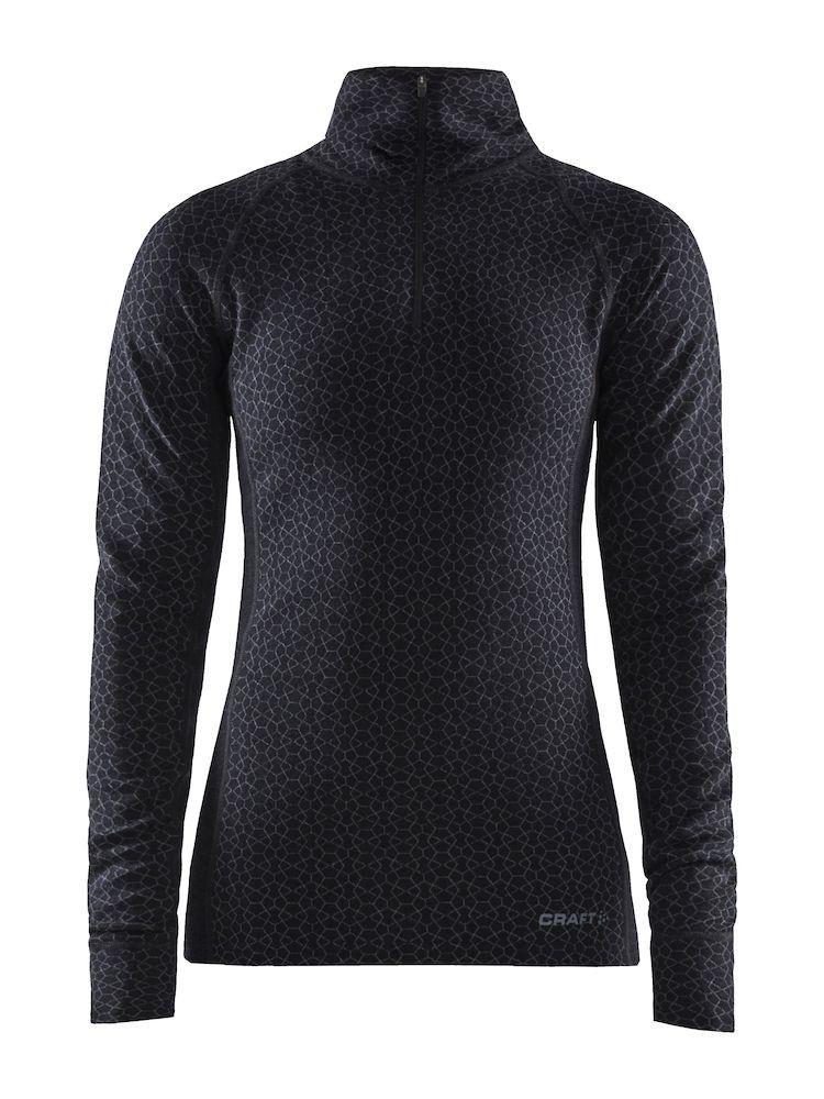 Koszulka termoaktywna damska Craft Merino ZIP Czarna