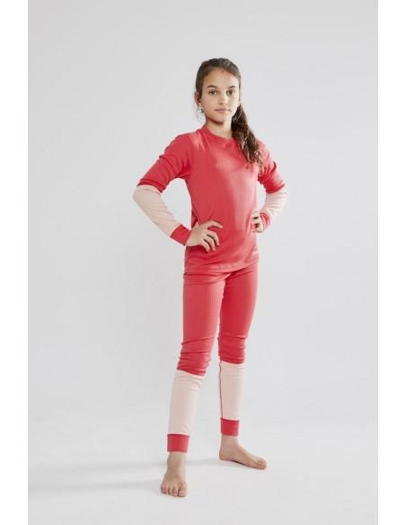Komplet dziecięcy Craft Baselayer Seamless Kids Czerwony