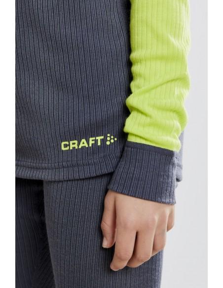 Komplet dziecięcy Craft Baselayer Seamless Kids Granatowo-Zielony