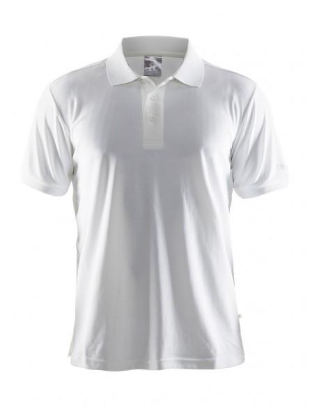 Męska koszulka CRAFT Polo Shirt Pique Classic biała