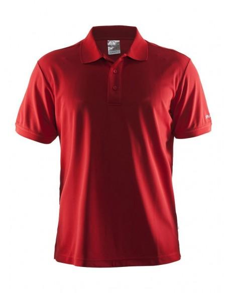 Koszulka męska CRAFT Polo Shirt Pique Classic czerwona